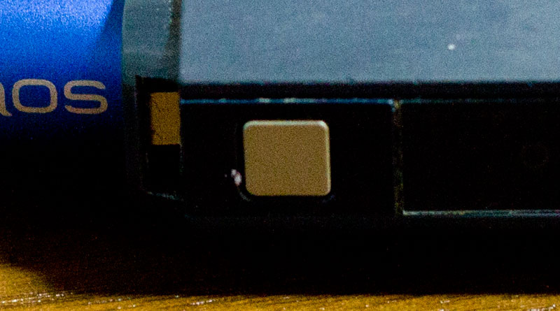 iQOSのオープンボタン