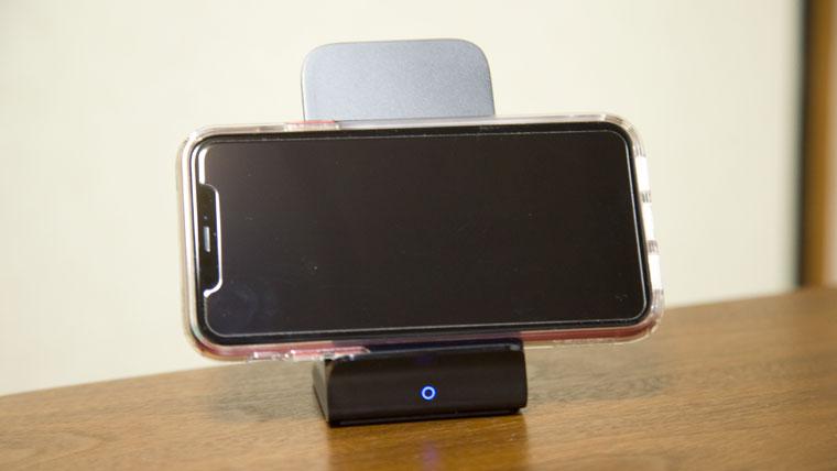 iPhoneXRを横置き